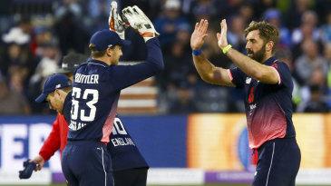 Liam Plunkett claimed his maiden ODI five-for
