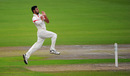 Saqib Mahmood bowls for Lancashire, Lancashire v Surrey, Specsavers Championship Division One, Edgbaston, September 25, 2017