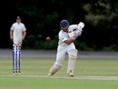 Prithvi Shaw drives the ball down the ground, England U19 v India U19, Worcester, August 2, 2017