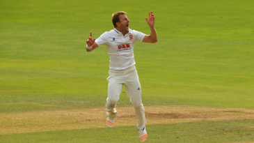 Neil Wagner celebrates a Yorkshire wicket