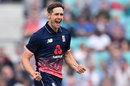 Chris Woakes struck in his first over, England v West Indies, 4th ODI, The Oval, September 27, 2017