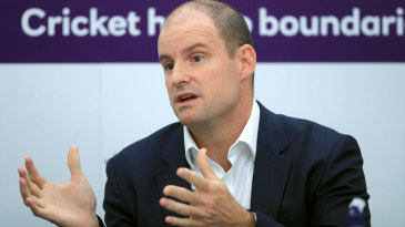 Andrew Strauss talks to the media