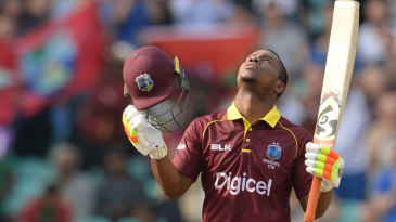 Evin Lewis made his second one-day hundred
