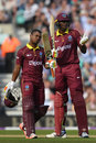 Evin Lewis and Jason Holder put on a rapid century stand, England v West Indies, 4th ODI, The Oval, September 27, 2017