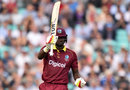 Jason Holder raised his half-century from 47 balls, England v West Indies, 4th ODI, The Oval, September 27, 2017