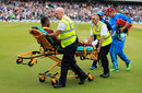 Evin Lewis had to be taken off on a stretcher, England v West Indies, 4th ODI, The Oval, September 27, 2017