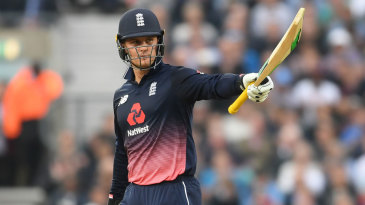 Jason Roy made his first fifty in ten ODI innings