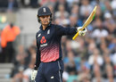 Jason Roy made his first fifty in ten ODI innings, England v West Indies, 4th ODI, The Oval, September 27, 2017