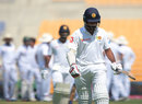 Lahiru Thirimanne walks back after being dismissed, Pakistan v Sri Lanka, 1st Test, 1st day, Abu Dhabi, 28 September, 2017