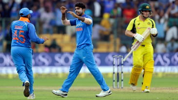 Umesh Yadav dismissed Aaron Finch with a slower delivery