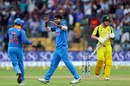 Umesh Yadav dismissed Aaron Finch with a slower delivery, India v Australia, 4th ODI, Bengaluru, September 28, 2017