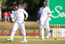 Mehidy Hasan celebrates Aiden Markram's run-out, South Africa v Bangladesh, 1st Test, Potchefstroom, 1st day, September 28, 2017