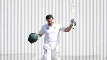 Dean Elgar's century celebrations were subdued