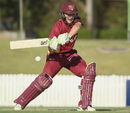 Marnus Labuschagne shapes up to play through the off side, Queensland v Cricket Australia XI, JLT One-Day Cup, Brisbane, September 29, 2017