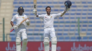 Dinesh Chandimal scored his first century as Test captain