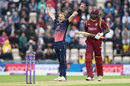 Tom Curran claimed Chris Gayle as his maiden ODI wicket, England v West Indies, 5th ODI, Ageas Bowl, September 29, 2017
