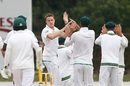 Morne Morkel celebrates the wicket of Liton Das, South Africa v Bangladesh, 1st Test, Potchefstroom, 2nd day, September 29, 2017
