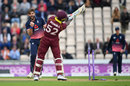 Rovman Powell was bowled by a full toss from Liam Plunkett, England v West Indies, 5th ODI, Ageas Bowl, September 29, 2017