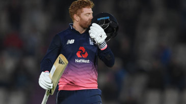 Jonny Bairstow raised his second hundred of the series