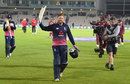 Jonny Bairstow leads England off after their nine-wicket win, England v West Indies, 5th ODI, Ageas Bowl, September 29, 2017