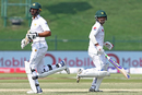 Shan Masood and Sami Aslam had a steady opening partnership, Pakistan v Sri Lanka, 1st Test, Abu Dhabi, 3rd day, September 30, 2017