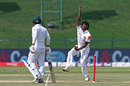Lakshan Sandakan in his delivery stride, Pakistan v Sri Lanka, 1st Test, Abu Dhabi, 3rd day, September 30, 2017