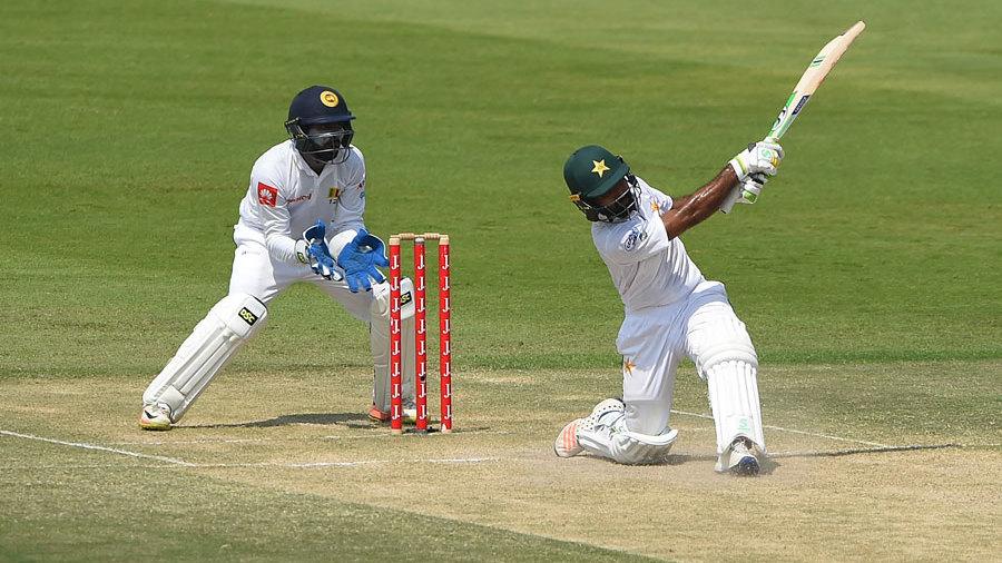 Asad Shafiq slaps one over midwicket