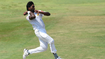 Nuwan Pradeep leaps before delivering