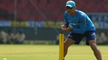 Fielding drills kept MS Dhoni busy