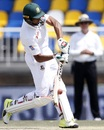 Mahmudullah comes down the track for a loft, South Africa v Bangladesh, 1st Test, Potchefstroom, 3rd day, September 30, 2017