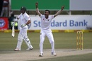 Shafiul Islam had Dean Elgar trapped lbw, South Africa v Bangladesh, 1st Test, Potchefstroom, 3rd day, September 30, 2017