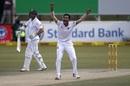 Shafiul Islam had Dean Elgar trapped lbw, South Africa v Bangladesh, 1st Test, Potchefstroom, 3rd day, September 30, 2017