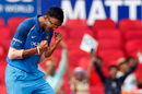 Axar Patel picked up three wickets, India v Australia, 5th ODI, Nagpur, October 1, 2017