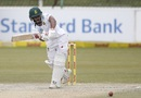 Temba Bavuma drives to mid-on, South Africa v Bangladesh, 1st Test, Potchefstroom, 4th day, October 1, 2017
