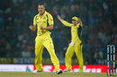 Nathan Coulter-Nile gave Australia their first breakthrough, India v Australia, 5th ODI, Nagpur, October 1, 2017
