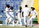 Sri Lanka go wild after Rangana Herath gets rid of Asad Shafiq, Pakistan v Sri Lanka, 1st Test, Abu Dhabi, 5th day, October 2, 2017