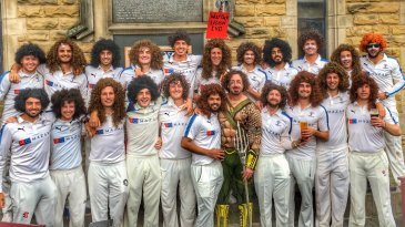 Yorkshire players provide their Super Hero tribute to Ryan Sidebottom