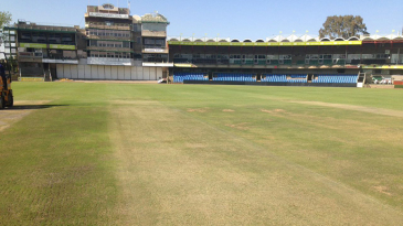 A view of the pitch at the Mangaung Oval a few days before the second Test