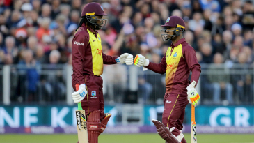 Chris Gayle and Evin Lewis added 77 together