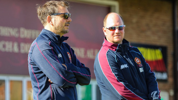 David Sales (right) has won a full-time role as Northants' batting coach