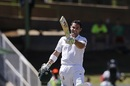Dean Elgar celebrates his 10th Test hundred, South Africa v Bangladesh, 1st Test, Bloemfontein, 1st day, October 6, 2017