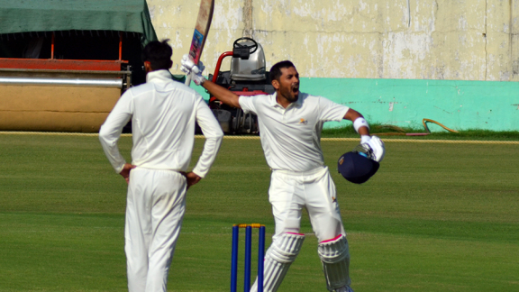 Prashant Chopra's 271 not out on the first day equalled the highest individual score for Himachal Pradesh in the Ranji Trophy