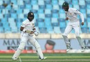 Shan Masood exults after Kusal Mendis was caught, Pakistan v Sri Lanka, 2nd Test, Dubai, 1st day, October 6, 2017