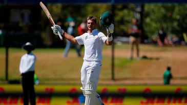 Aiden Markram takes in his maiden Test century