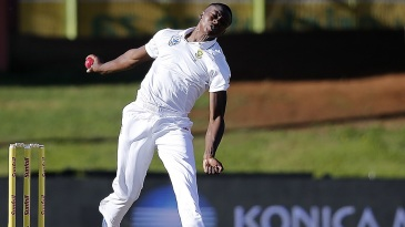 Kagiso Rabada hit the pitch hard