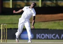 Kagiso Rabada hit the pitch hard, South Africa v Bangladesh, 1st Test, Bloemfontein, 2nd day, October 7, 2017