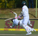Temba Bavuma leaps to his right to hang on at gully, South Africa v Bangladesh, 1st Test, Bloemfontein, 2nd day, October 7, 2017