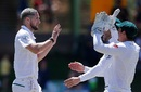 Wayne Parnell nipped out Mushfiqur Rahim at the stroke of lunch, South Africa v Bangladesh, 1st Test, Bloemfontein, 3rd day, October 8, 2017