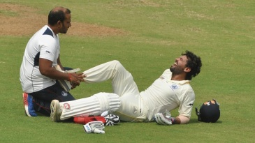 M Vijay had retired hurt after hurting his right ankle