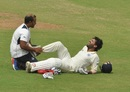 M Vijay had retired hurt after hurting his right ankle, Tamil Nadu v Andhra, Ranji Trophy 2016-17, day 3, Chennai, October 8. 2017